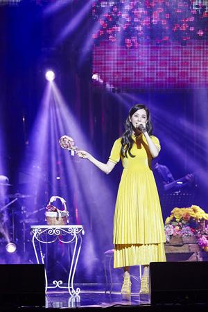 韓国ガールズグループ「少女時代」ソヒョン(25)がソロコンサートのアンコール公演も成功裏に終えた。(提供:news1)