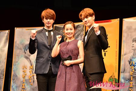 左から「超新星」ソンジェ、女優キム・ボギョン、歌手チェ・ドンウク(SE7EN)