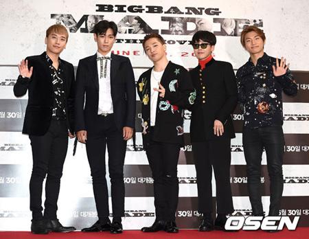 「BIGBANG」、Forbes選定「2016年の最多収益アーティスト」で54位にランクイン