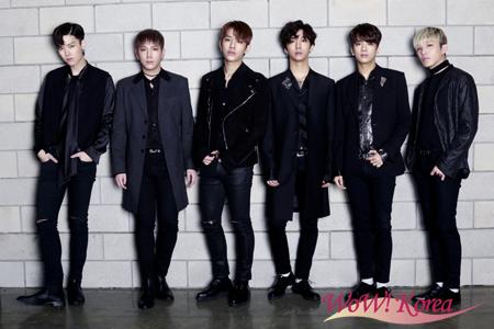 「B.A.P」左からZELO、ヒムチャン、デヒョン、バン・ヨングク、ヨンジェ、ジョンアプ