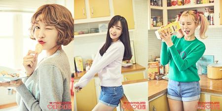 韓国ガールズグループ「MOMOLAND」のヘビン、ヨヌ、ジュイが個人ティザー写真を公開した。(提供:news1)