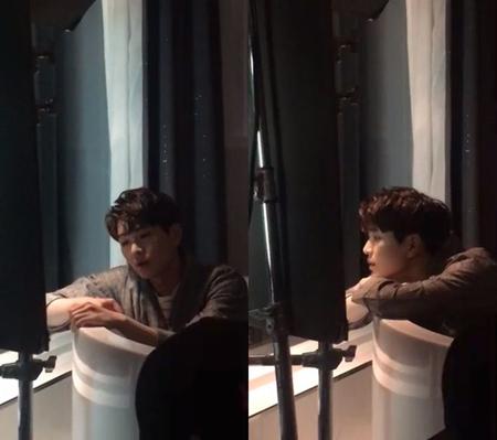 韓国ボーイズグループ「SHINee」メンバーのオンユが、「SM STATION2」での新曲ミュージックビデオの撮影現場を公開した。(提供:OSEN)