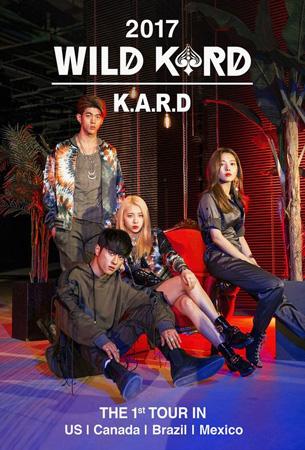 「K.A.R.D」、4か国11都市「WILD KARD TOUR」突入! (提供:OSEN)