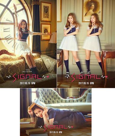 韓国ガールズグループ「TWICE」が、新曲「SIGNAL」のティーザーイメージを新たに公開し、どんなコンセプトなのか期待を高めている。(提供:OSEN)