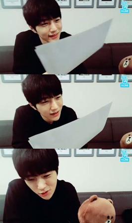 韓国ボーイズグループ「INFINITE」メンバーのエルが、俳優として出演するドラマ「君主」で共演する俳優ユ・スンホと仲がいいことを明かした。(提供:OSEN)