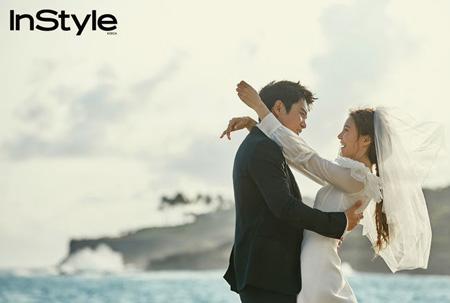 俳優チュ・サンウク&女優チャ・イェリョン、ロマンチックなウエディング画報公開! (提供:OSEN)