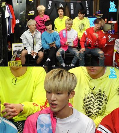 韓国ボーイズグループ「iKON」のB.Iが、新曲「BLING BLING」の制作秘話を語った。(提供:OSEN)