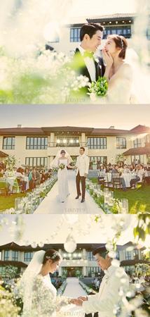 チュ・サンウク‐チャ・イェリョン、結婚式の写真公開! (提供:news1)