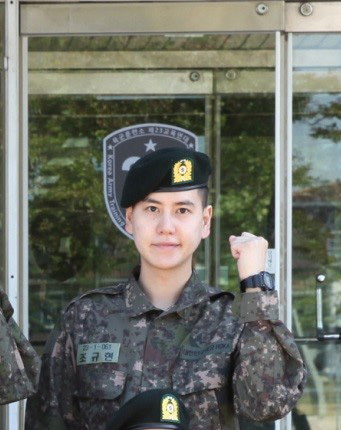 """""""入隊""""キュヒョン(SJ)、訓練所の写真を公開! """"凛とした姿""""(提供:news1)"""
