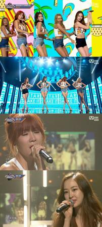 解散を発表した韓国ガールズグループ「SISTAR」が、Mnetの音楽番組「M COUNTDOWN」を最後に7年の音楽人生の第1幕を閉じる。(提供:OSEN)