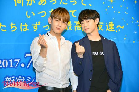 左からセヨン(MYNAME) 、カラム(大国男児)