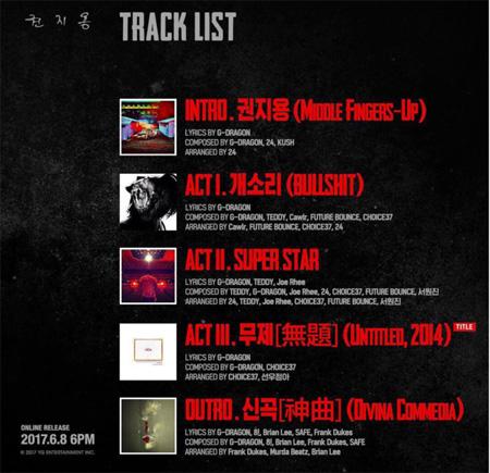 ヤン・ヒョンソク代表、G-DRAGONの「クォン・ジヨン」トラックリスト公開! タイトル曲「無題」に変更(提供:OSEN)
