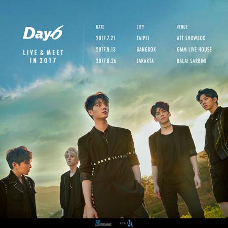 """""""信じて聞く""""「DAY6」、海外3都市でツアー開催=1stアルバム iTunes 9か国で1位(提供:OSEN)"""