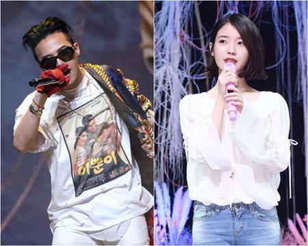韓国ボーイズグループ「BIGBANG」メンバーのG-DRAGONが、IUから焼酎をプレゼントされたことを明かした。(提供:OSEN)