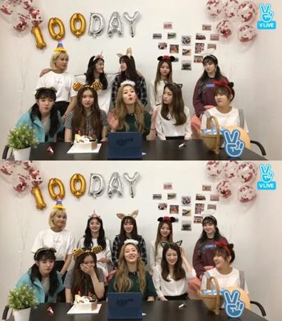 韓国ガールズグループ「PRISTIN」が、デビュー100日を迎えた感想をファンに伝えた。(提供:OSEN)