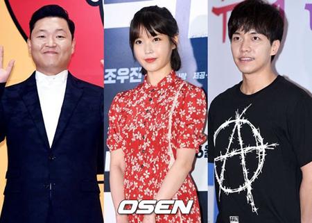 韓国歌手IUとPSYが、俳優で歌手のイ・スンギのために軍慰問公演を行い、楽しい時間を過ごしたという。(提供:OSEN)
