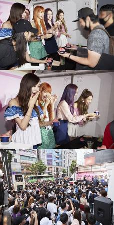 韓国ガールズグループ「BLACKPINK」がデビュー後初のファンサイン会を開催した。(提供:OSEN)