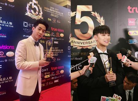 韓国歌手ヘンリー(Henry、27)と「NCT」テン(21)がタイの文化授賞式「2016-2017 Thailand Headlines Person of The Year」に出席し、主要受賞者に名を連ねた。(提供:OSEN)