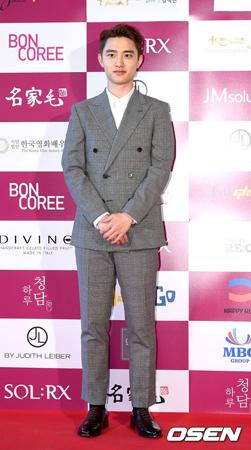 韓国ボーイズグループ「EXO」メンバーのD.O.(24)が、共演者やスタッフに感謝の気持ちを伝えた。(提供:OSEN)