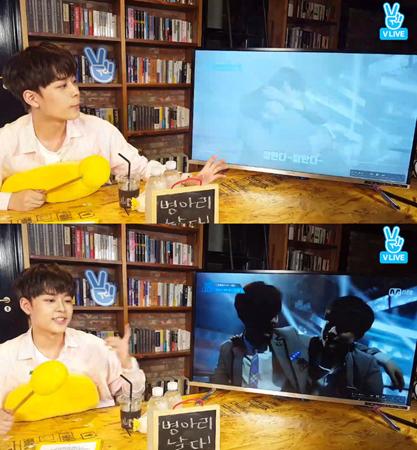 韓国Mnetの国民的ボーイズグループ育成番組「プロデュース101シーズン2」に出演したユ・ソンホが、「Wanna One」としてデビューすることになったミンヒョン(NU'EST)への格別な愛情を見せた。(提供:OSEN)
