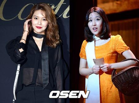 韓国ガールズグループ「少女時代」メンバーのスヨンとミュージカル女優チェ・スジンが今月4日に祖母を亡くしていたという。(提供:OSEN)