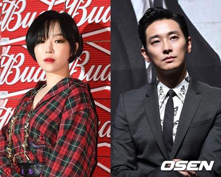 韓国俳優チュ・ジフン(35)とガールズグループ「Brown Eyed Girls」ガイン(29)に破局報道が流れた。事実上、認めた雰囲気だ。