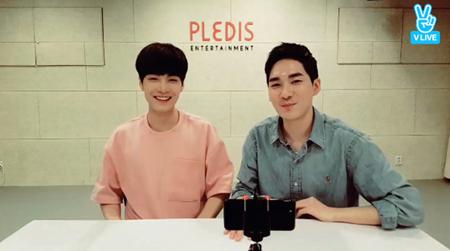 韓国ボーイズグループ「NU'EST」メンバーのJRとアロンが、4年前に発売された「HELLO」が再評価されたことを祝った。(提供:OSEN)