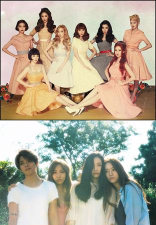 韓国ガールズグループ「少女時代」と「f(x)」が、米・ビルボードが発表した「最近10年間のベストK-POPガールズグループ10」に選ばれた。(提供:OSEN)