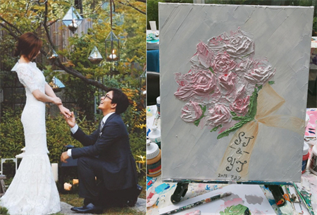 韓国女優パク・スジン(31)が俳優ペ・ヨンジュン(44)との結婚2周年を祝った。(提供:news1)