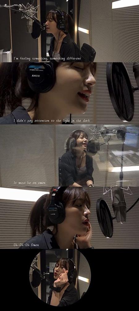 "「EXID」ハニ、「Disclosure」の「Omen」をカバー ""反転の魅力を披露""(提供:OSEN)"