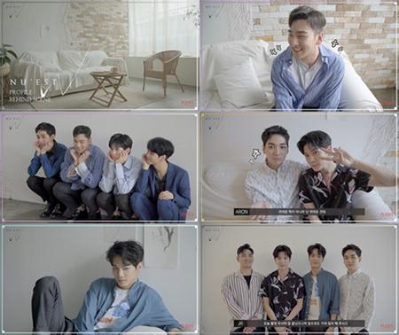 韓国ボーイズグループ「NU'EST」の4人のメンバーが組んだ新しいユニット「NU'EST W」が、NAVERのVライブでハート1億個を突破した。(提供:OSEN)