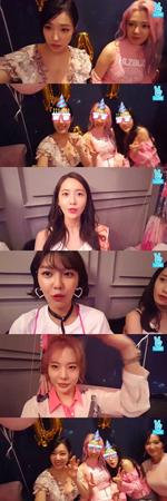 NAVERのVアプリ「少女時代 PARTY Night」より(提供:OSEN)