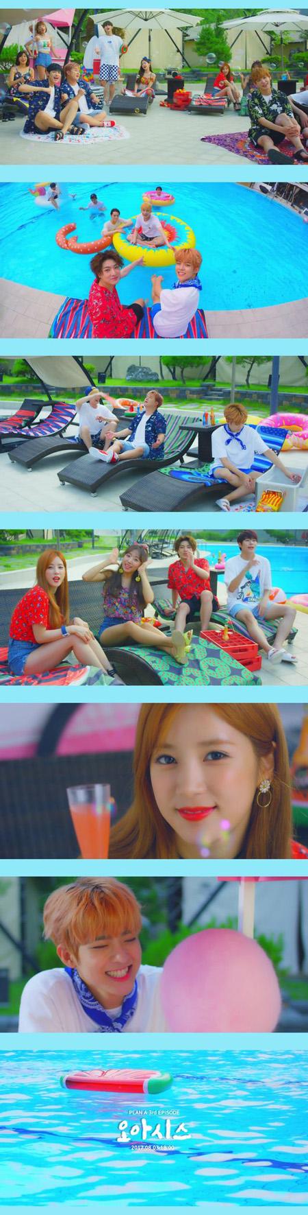 「Apink」&ホガク&「VICTON」、サマーソング「OASIS」MVティーザー映像公開! (提供:OSEN)