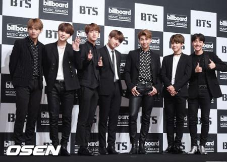 韓国アイドルグループ「防弾少年団」がアジア歌手で唯一米国ニューヨーク・タイムズが選定した「アメリカ人が最も愛するアーティスト」に選ばれた。(提供:OSEN)