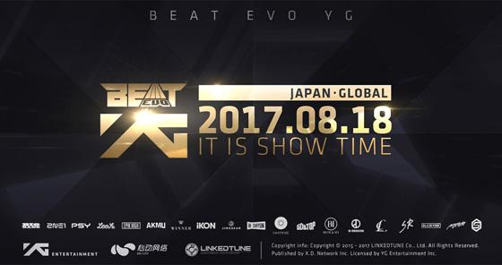 YGエンタ公式音ゲー「BeatEVO YG~ビート・エボリューション~」の配信日が8月18日に決定!