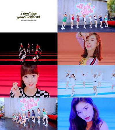 今月8日にデビューした韓国ガールズグループ「Weki Meki」のデビュー曲が、公開から1日も経たずに再生回数100万回を突破した。(提供:OSEN)