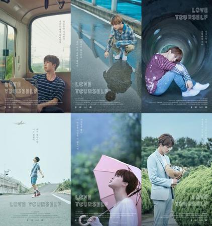 韓国ボーイズグループ「防弾少年団」が、新シリーズとなる「LOVE YOURSELF」のポスターを全員分公開した。(提供:OSEN)