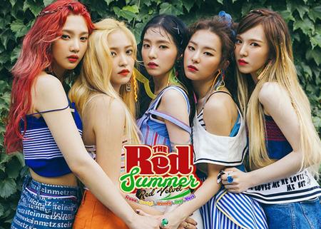 韓国ガールズグループ「Red Velvet」が、8月のガールズグループブランド評判で1位になった。(提供:OSEN)