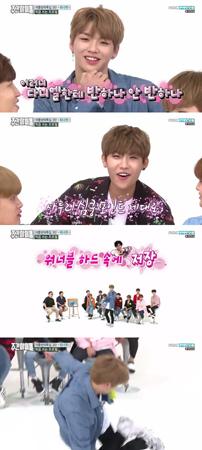 韓国ボーイズグループ「Wanna One」メンバーのカン・ダニエルとパク・ウジンが違った魅力の方言を披露し、女性視聴者のハートをわしづかみにした。(提供:OSEN)
