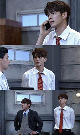 人気アイドルグループ「Wanna One」のオン・ソンウとパク・ジフンが映画「新世界」をパロディにする。(提供:OSEN)