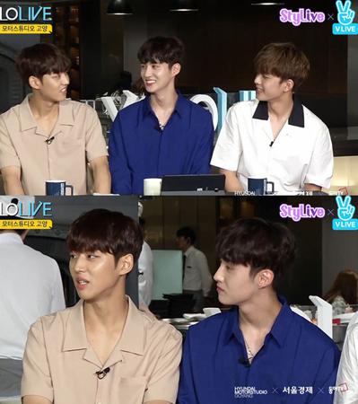 """韓国ボーイズグループ「PENTAGON」メンバーのホンソクとヨウォンが、""""双子コンセプト""""について語った。(提供:news1)"""