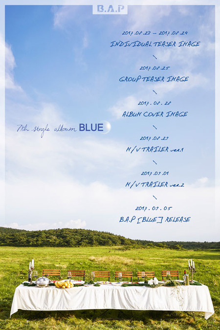 「B.A.P」、7thシングルアルバム「BLUE」で9月5日にカムバック! (提供:OSEN)