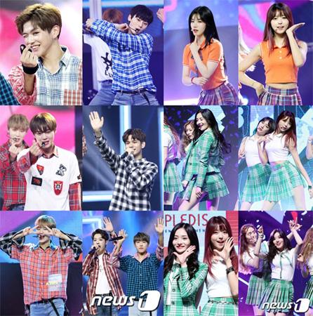 韓国歌謡界にチェック柄の風が吹いている。チェック柄の衣装を着て魅力をアピールするアイドルスターが熱い。
