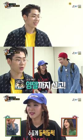 韓国ボーイズグループ「Block B」メンバーのジコが、ピオの靴下の秘密を番組で暴露した。(提供:OSEN)