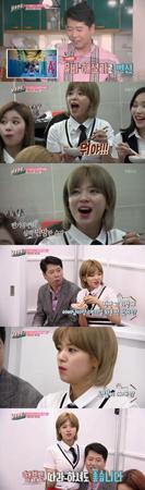 韓国ガールズグループ「TWICE」メンバーのジョンヨンが、初めて父親と共に番組に出演した。(提供:OSEN)