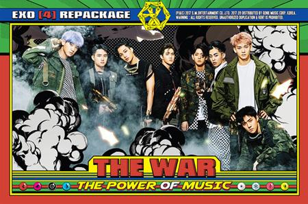 韓国アイドルグループ「EXO」が4thリパッケージアルバム「THE WAR: The Power of Music」でチャートパワーを改めて証明した。(提供:OSEN)