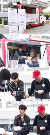 韓国のヒットメーカー、勇敢な兄弟と歌手サムエル(15)が朝食分かち合い行事に参加した。(提供:OSEN)