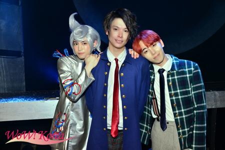 左からカラム、相馬圭祐、チェジン(MYNAME)