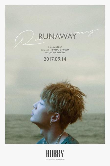 「iKON」BOBBY、初ソロアルバム2つ目のタイトル曲「RUNAWAY」ポスター公開! (提供:news1)