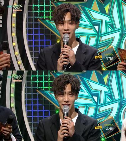韓国ボーイズグループ「Highlight」メンバーのイ・ギグァンが、8年ぶりにソロで音楽番組に出演した。(提供:OSEN)